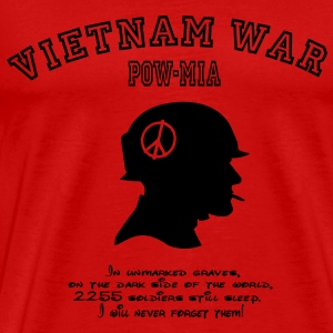 Vietnam War POW-MIA: I will never forget! T-Shirts - Men's Premium T-Shirt