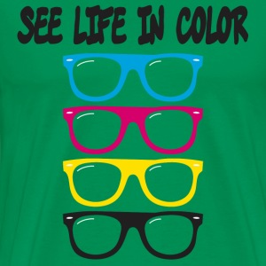 see life in color CMYK T-Shirts - Men's Premium T-Shirt