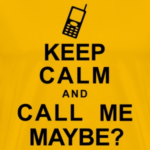 Keep Calm and Call Me - Men's Premium T-Shirt