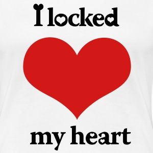I Locked My Heart Left Side - Women's Premium T-Shirt