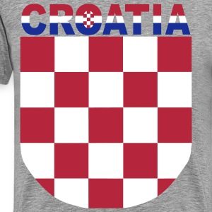 Men Shirt Croatia Hrvatska Sahovnica 3 color - Men's Premium T-Shirt