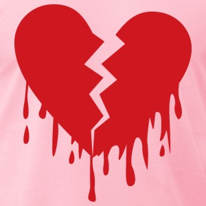 Broken heart - Men's T-Shirt by American Apparel