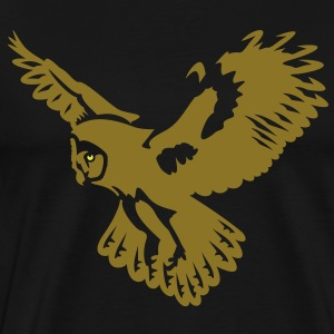 Owl take-off - 2 colors T-Shirts - Men's Premium T-Shirt