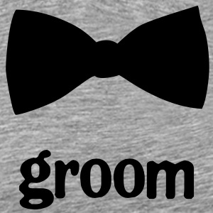 Groom Bow Tie - Men's Premium T-Shirt