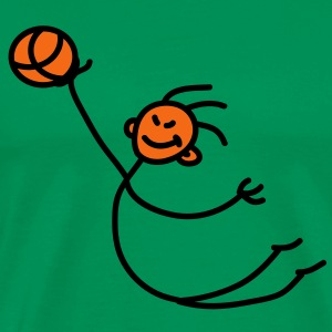 basketball_person_2c T-Shirts - Men's Premium T-Shirt