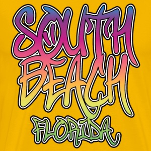 South Beach Graffiti Heavyweight T-Shirt - Men's Premium T-Shirt