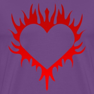 Flaming Heart - Men's Premium T-Shirt