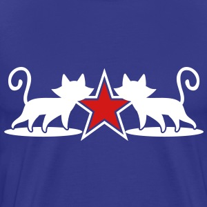 military army cats with 5 point star T-Shirts - Men's Premium T-Shirt