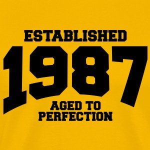 aged to perfection established 1987 T-Shirts - Men's Premium T-Shirt