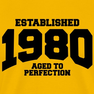 aged to perfection established 1980 T-Shirts - Men's Premium T-Shirt