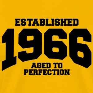aged to perfection established 1966 T-Shirts - Men's Premium T-Shirt