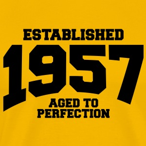 aged to perfection established 1957 T-Shirts - Men's Premium T-Shirt