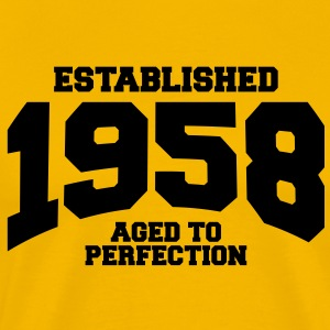 aged to perfection established 1958 T-Shirts - Men's Premium T-Shirt