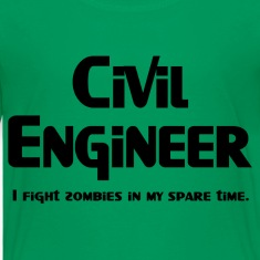 Civil Engineer Zombie Fighter Kids' Shirts