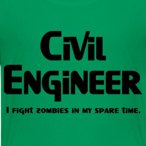 Civil Engineer Zombie Fighter Kids' Shirts - Kids' Premium T-Shirt