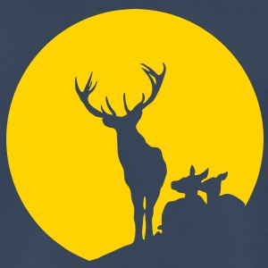Deer Family Sun T-Shirts - Men's Premium T-Shirt