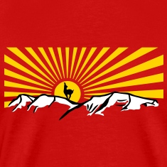 Mountains with sun an goat T-Shirts