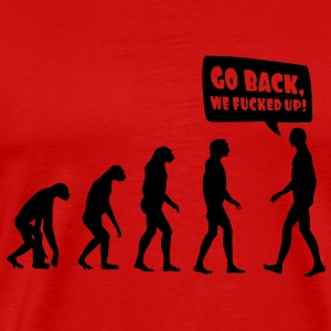 evolution fucked up T-Shirts - Men's Premium T-Shirt