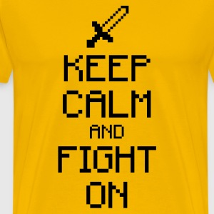 Keep calm and fight on 1c T-Shirts - Men's Premium T-Shirt