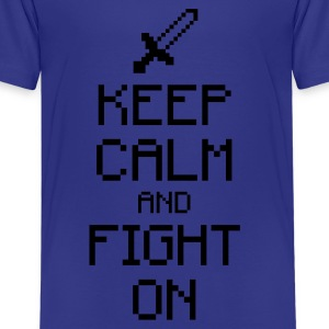 Keep calm and fight on 1c Kids' Shirts - Kids' Premium T-Shirt