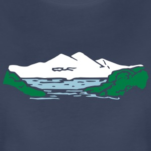 Mountain lake Women's T-Shirts - Women's Premium T-Shirt