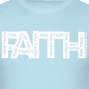 faith hebrews 11-1 - 1col T-Shirts - Men's T-Shirt