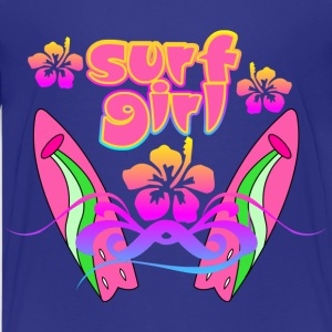 Surf Girl Beach Design - Kids' Premium T-Shirt