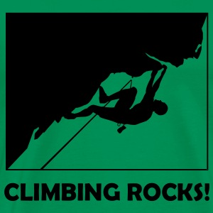 Climbing Rocks - Men's Premium T-Shirt