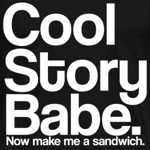 cool_story_babe_white T-Shirts - Men's Premium T-Shirt