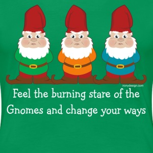 Burning Stare of The Gnomes - Women's Premium T-Shirt
