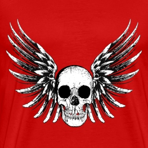 Winged Skull T-Shirts - Men's Premium T-Shirt