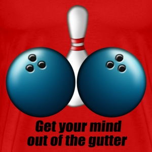 mind_out_of_gutter_bowling T-Shirts - Men's Premium T-Shirt