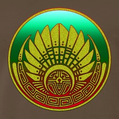Crop circle - Mayan mask - Silbury Hill 2009 - Quetzalcoatl - Native Americans - Aztec - Venus - 2012 - Symbol New Age / T-Shirts