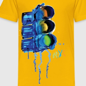 NYC Painted Traffic Light - Kids' Premium T-Shirt