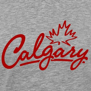 Calgary Leaf Script Heavyweight T-Shirt - Men's Premium T-Shirt