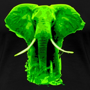 african elephant green colored- digital Women's T-Shirts - Women's Premium T-Shirt