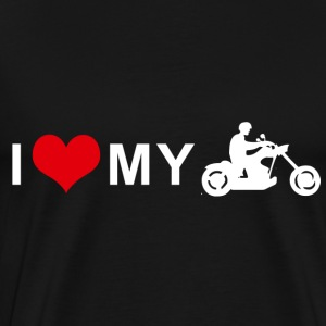 I LOVE MY MOTORCYCLE - Chopper Cruiser T-Shirts - Men's Premium T-Shirt