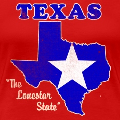 Texas, The Lonestar State womens vintage T