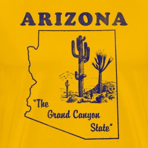 Arizona, The Grand Canyon State men's vintage T - Men's Premium T-Shirt