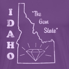 Idaho, The Gem State men's vintage T