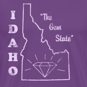 Idaho, The Gem State men's vintage T - Men's Premium T-Shirt