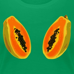 papaya fruit cut half - digital Women's T-Shirts - Women's Premium T-Shirt