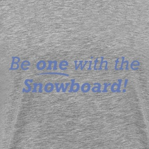 Be one with the Snowboard! - Men's Premium T-Shirt