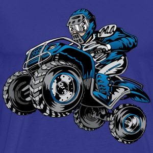 ATV quad rider blue - Men's Premium T-Shirt