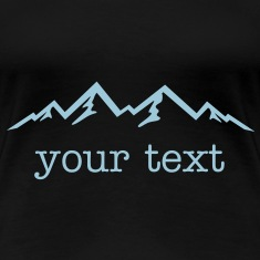 Mountains & text