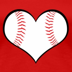 Women's Baseball Heart T-Shirt