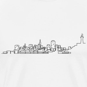 San Francisco Skyline T-shirt - Men's Premium T-Shirt