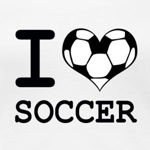 womens i love soccer t shirt womens premium t shirt - Soccer T Shirt Design Ideas