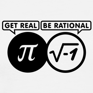 get real - be rational (1c) T-Shirts - Men's Premium T-Shirt