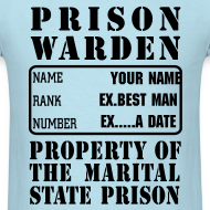Design ~ Warden, Marriage State Prison, personalize for bachelor / bachelorette / anniversary parties